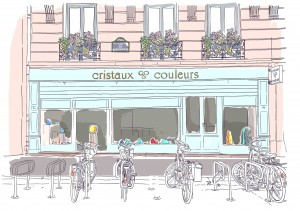 Illustation Boutique Cristaux & couleur